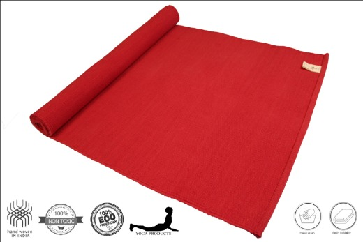 AGNI - Cotton Yoga Mat, Mysore Yoga Rug
