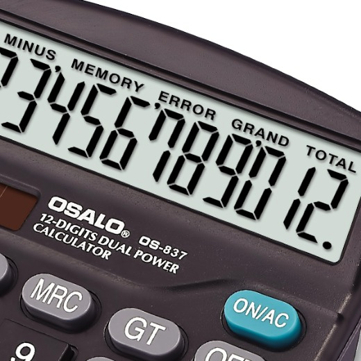 OSALO Hot selling Desktop 12 Digit Calculator Wholesale