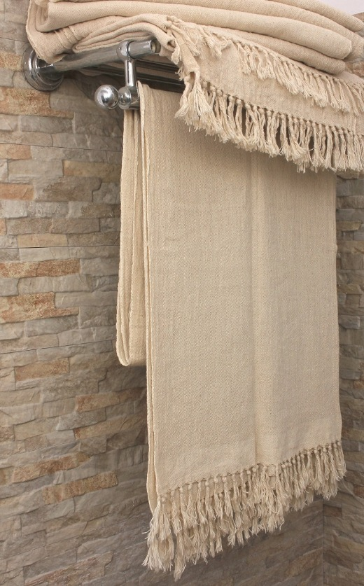 Linen cotton blended diamond weave towel