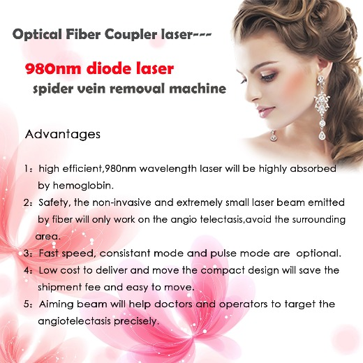 980nm diode laser spider vein removal machine