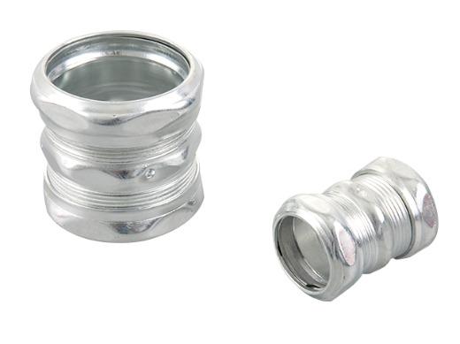 Emt steel compression set screw coupling