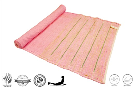 PARUTHI - Organic Cotton Yoga Mat with Back Rubberized