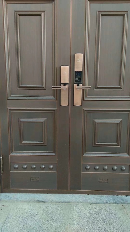 Manufacturers sell smart locks, security doors