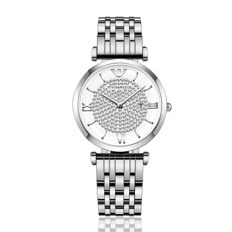 PUVOS starry sky light luxury waterproof diamond Watch