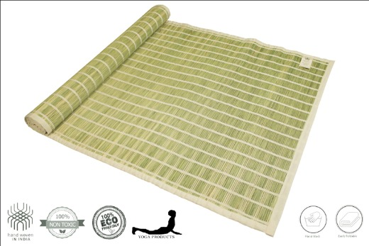 SHAKTHI - Darbha Grass Yoga Mat with Back Rubberized
