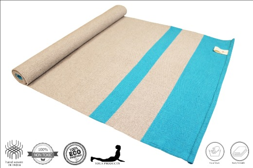 AAKASH - Cotton Yoga Mat, Mysore Yoga Rug