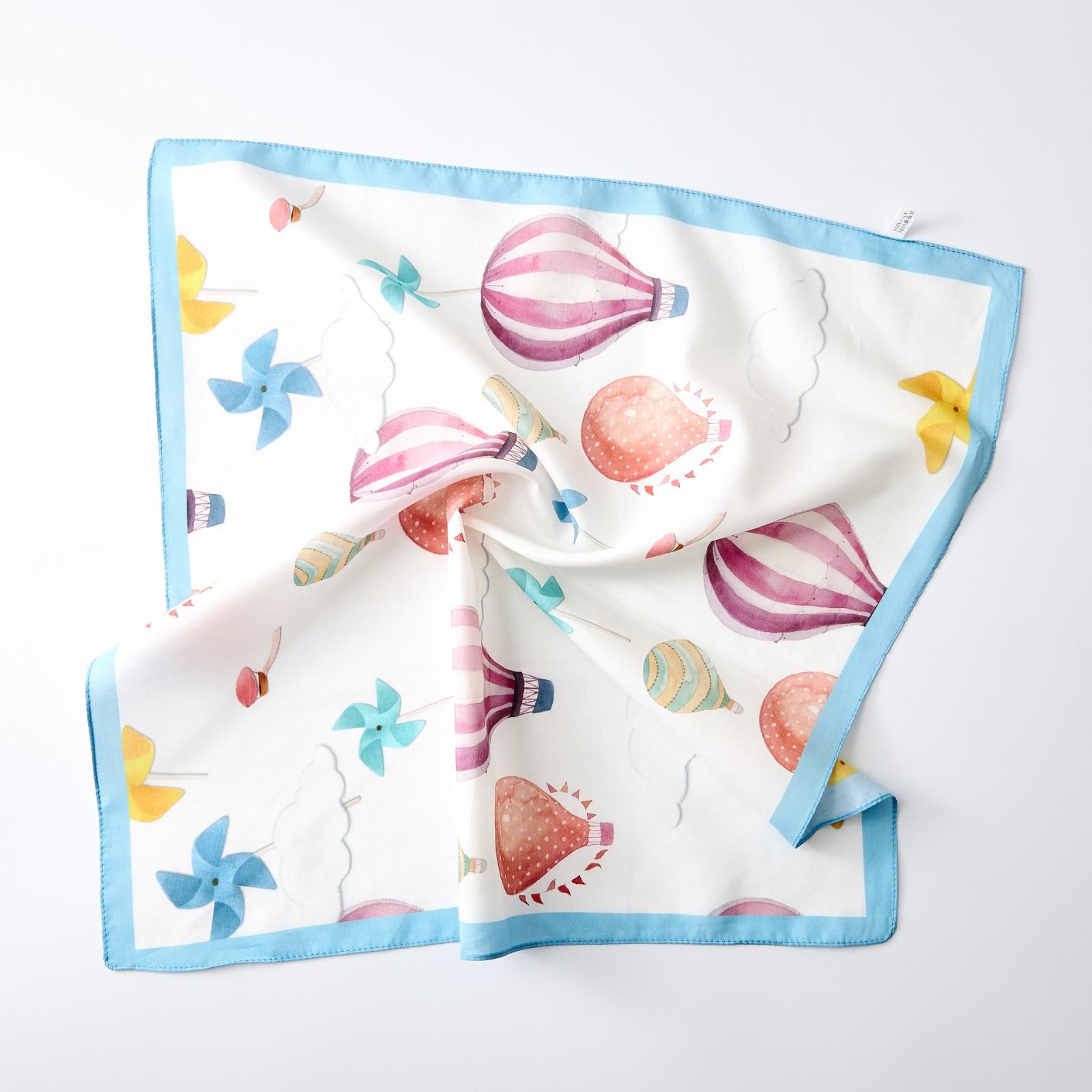 Silk cotton baby scarf for children