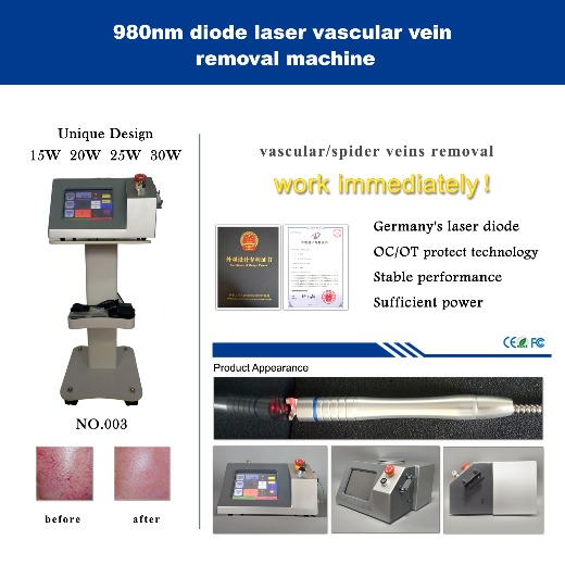 980nm diode laser spider vein removal machine- Silver version