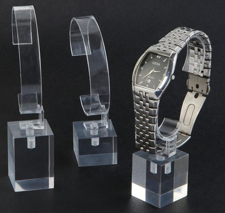Customize luxury clear acryl plexiglass watch display stand