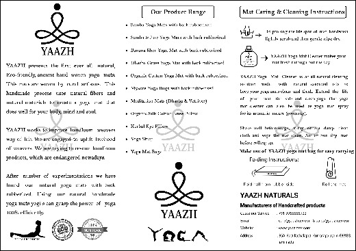 AAKASH - Cotton Yoga Mat, Mysore Yoga Rug