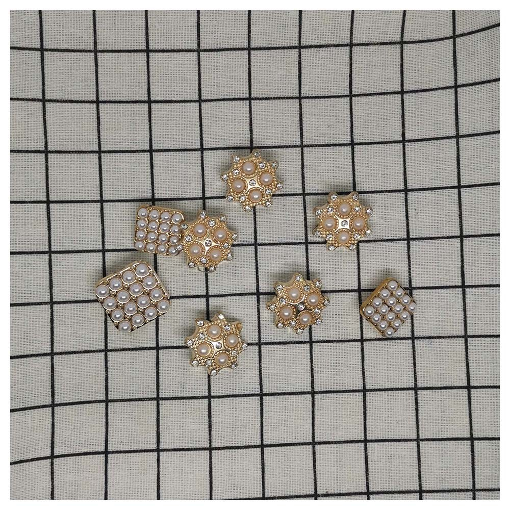 Pearl metal buttons fine small fragrance wind coat accessories