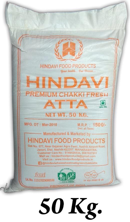 Hindavi Whole Wheat Flour 50Kg (Atta)