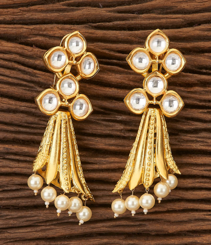 Long Trendy Earrings with Gold Plating