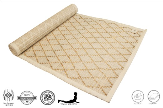 VAIRA - Sambu Yoga Mat with Diamond Pattern & Back Rubberized