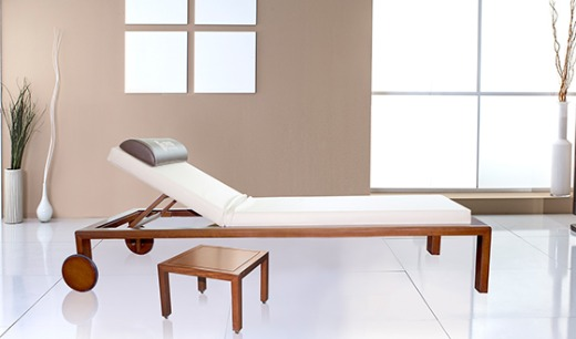 DM-140 LUXURY WOODEN SPA RELAXING BED