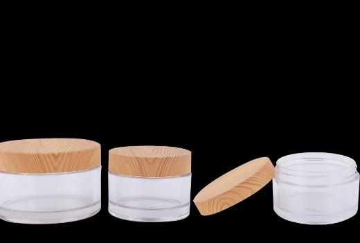 PETG jar with wood grain cap