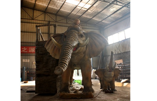 water spray life size elephant for amusement park