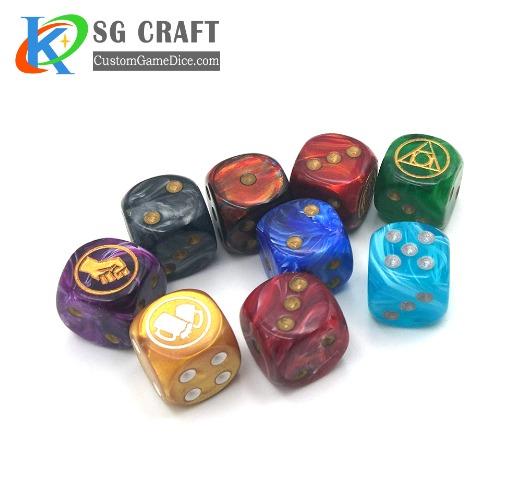 Custom plastic dice