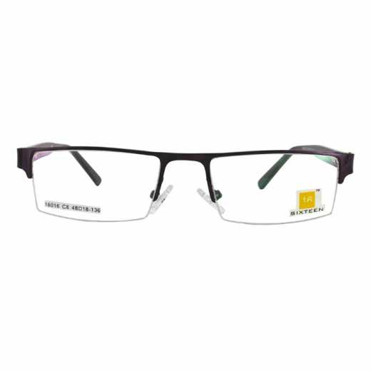 Metal Frame Half Rim Unisex Model with Stainless Steel Front - 16016