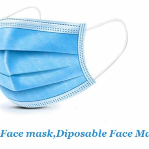 Wholesale Manufacturer Disposable Non Woven 3 Ply Face Mask 3 Layer face mask disposable