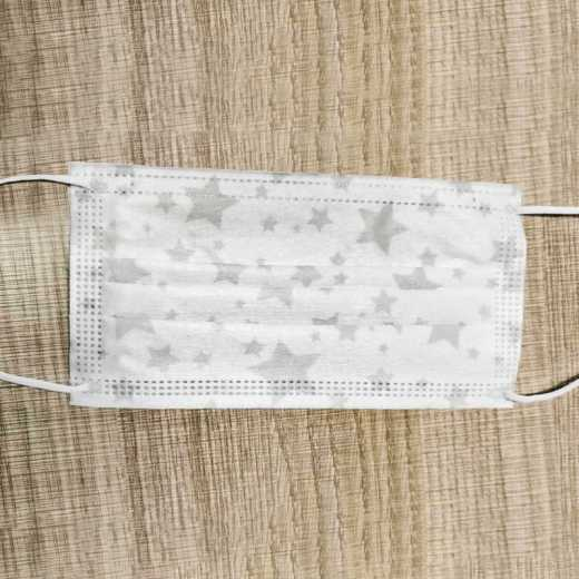 White dust star pattern disposable protective mask anti-dust anti-haze anti-droplet thickened melt spray cloth