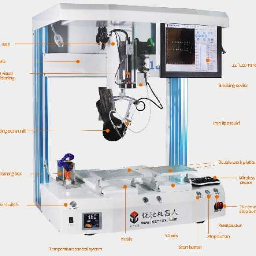 dual table automatic soldering machine