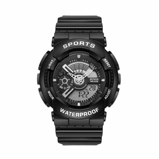 Ms. PUVOS Youth Coldplay fashion waterproof dual display electronic watch