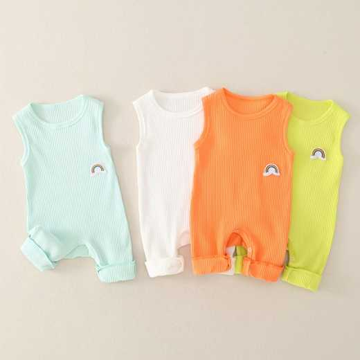 Ziluotong baby clothes baby rainbow vest one piece clothes