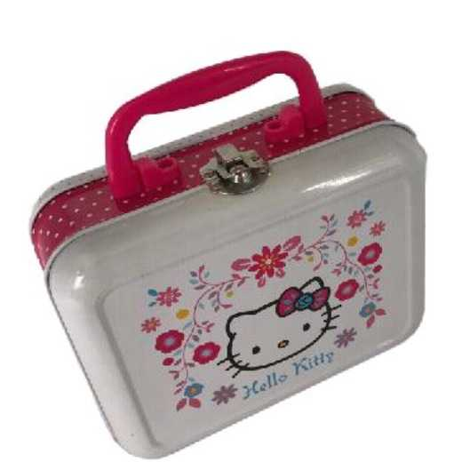 Tin Box with Handle and Lock