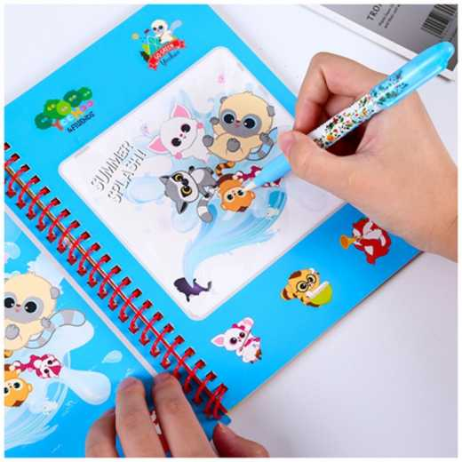 Children's puzzle magic magic water painting book Kindergarten children creative manual reusable painting book water painting doodle book