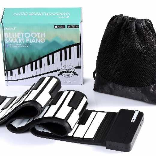 iword N2049 Bluetooth 49-Key Roll-Up Piano Learn-To-Play App Game