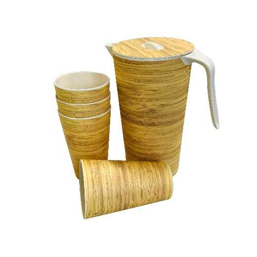 ECO friendly reusable bamboo fibre kettle and cups