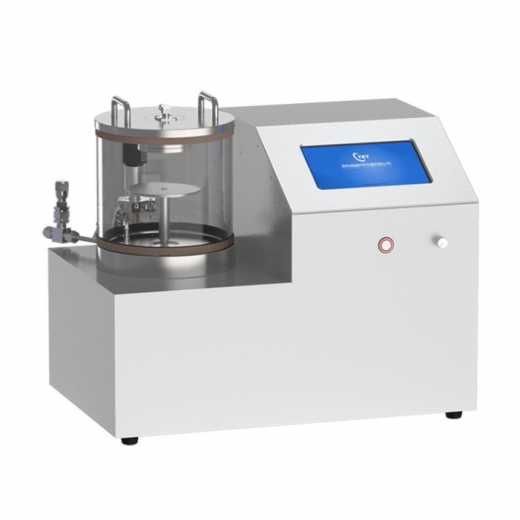 Laboratory bench top plasma sputtering coater with rotary sample stage