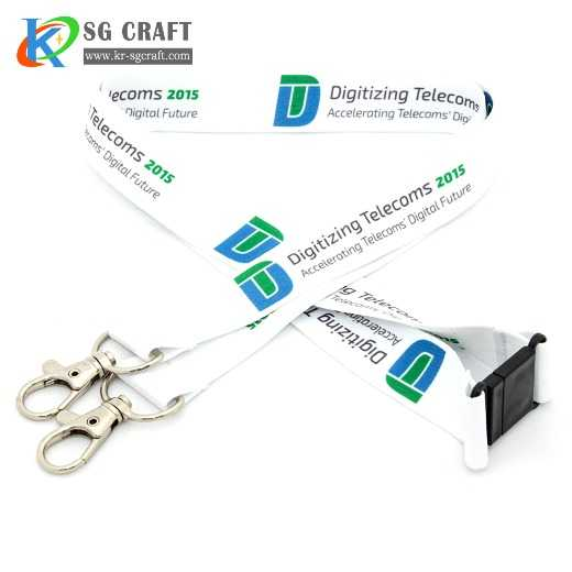 Top Sale Custom Your Design Sublimation Printed Polyester Lanyards With Colorful Logo
