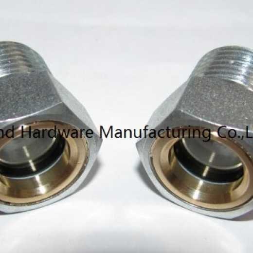 Carbon Steel oil level sight glass zinc plated with reflector