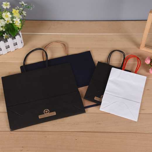 Custom kraft paper bags for takeout shopping gifts clothing and other packaging handbags