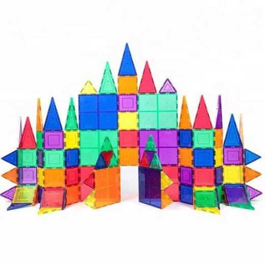 Magnet Building Tiles Clear Magnetic 3D Building Blocks Construction Toys