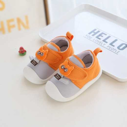 Quequn Toddler Shoes for Boys and Girls Spring Fall 0-3 Years Old Soft Soled Toddler Velcro Shoes for Kids Anti-slip Sneakers