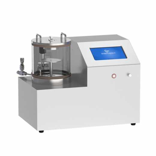 Desktop single head plasma sputtering coater with rotary sample stage