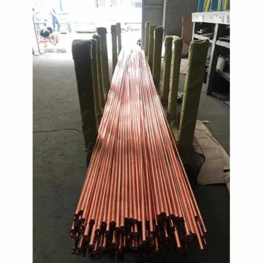Copper plating round steel