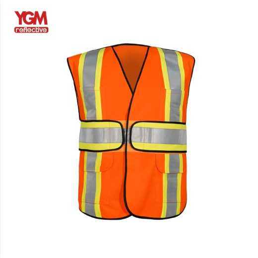 High visibility adjustable security custom safety vest