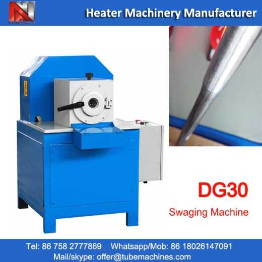 DG30 tube swaging machine for aluminum tube heaters