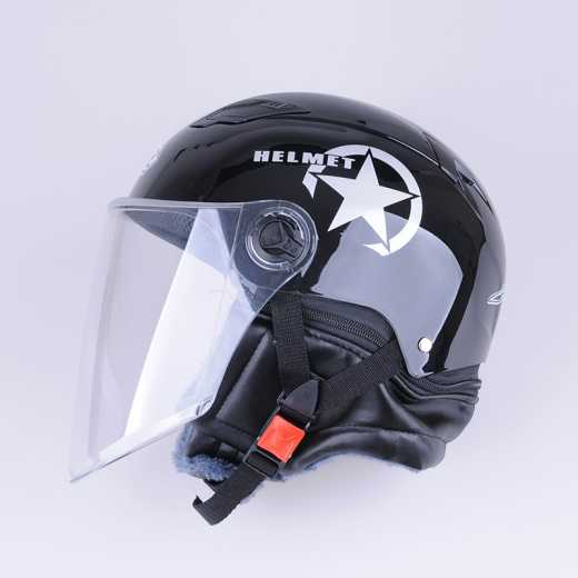 DEFE Summer Safety Helmet Moped Occupant Safety Helmet Shell PP and Lens PC Safety Fashion Durable Helmet