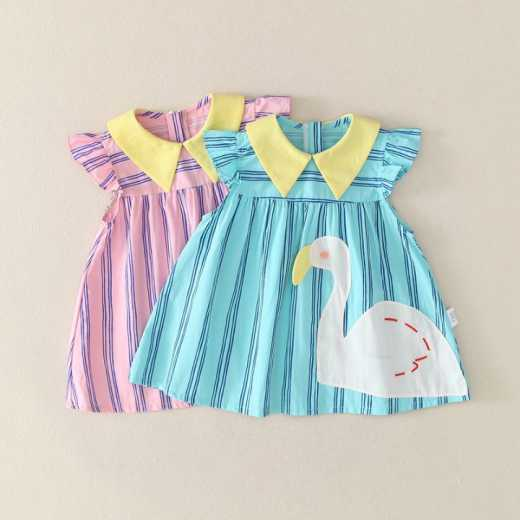 Ziluotong little girl suit summer baby foreign style princess skirt