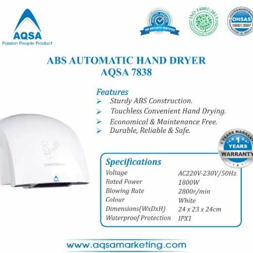 ABS Automatic Hand Dryer (AQSA - 7838)