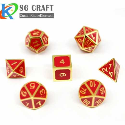 Wholesale hot sale custom metal polyheral dnd dice