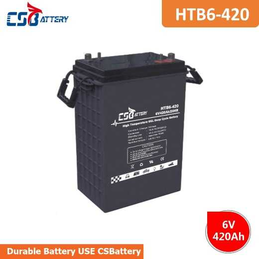 Csbattery 6V420ah 15+ Years Working Gel Battery for Home-Use-Storage/Data-Center/Hardware/Centrifugal-Pumps