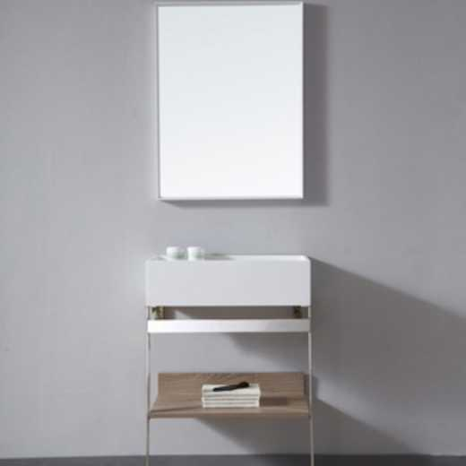 China Floor artificial stone Bathroom  Cabinets with  mirror Europe and American Standards bathroom vanity TW-2030