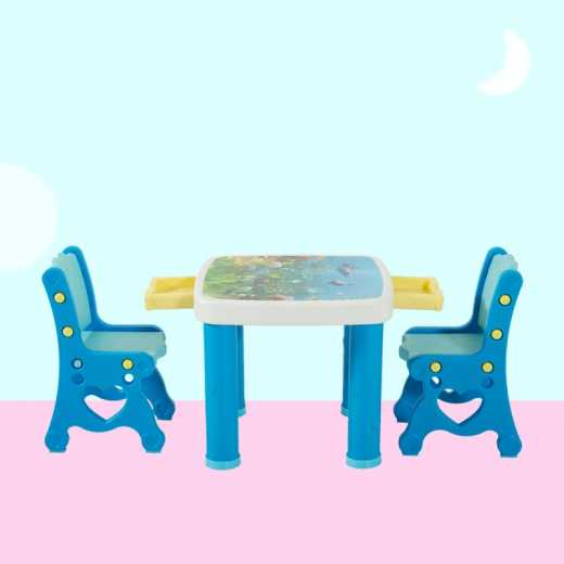 The baby learns desk and chair set children use plastic desk for drawing and writing
