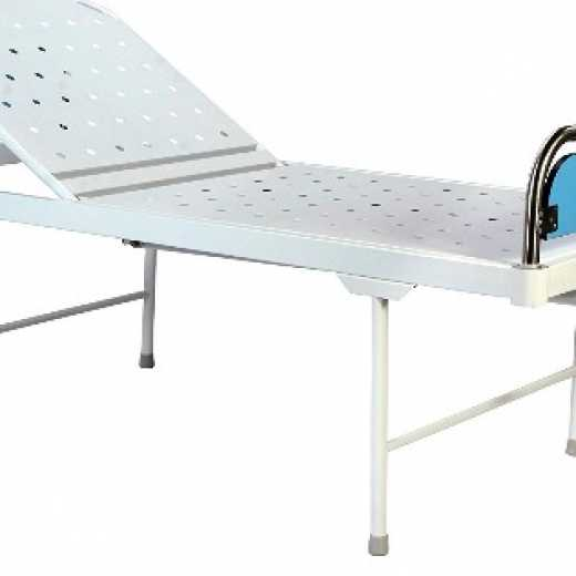 Removable Stainless Steel Head and Foot Boards with Laminated Panels Semi-Fowler Patient Bed for Hospital